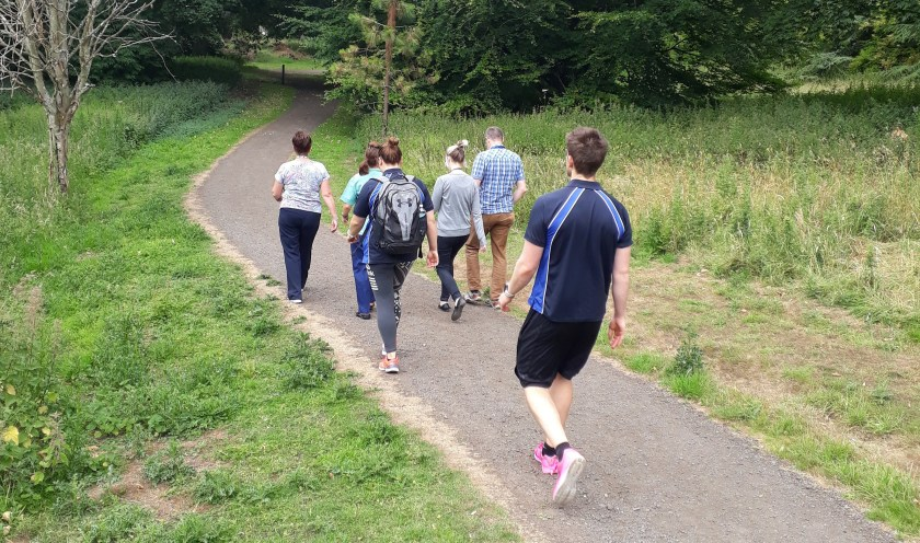 SIDE Health walks at Ninewells