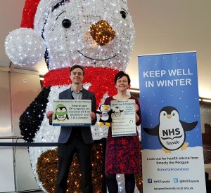 MAIN Smarty the penguin launches NHS Tayside_s winter campaign (1)