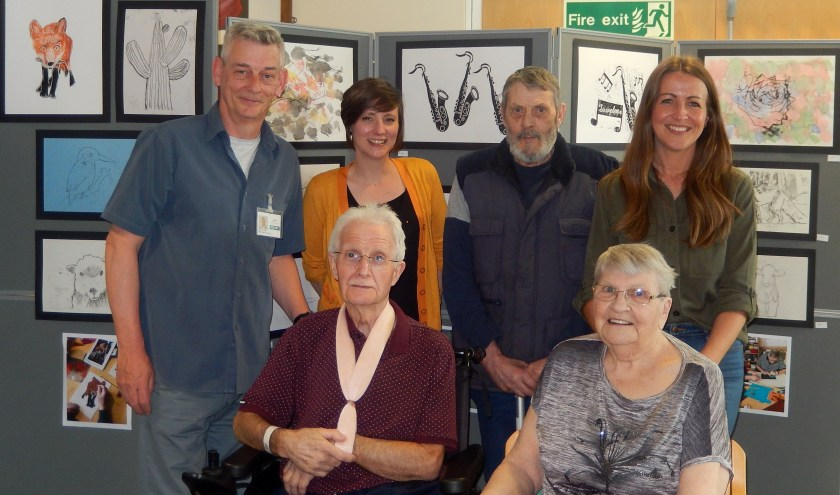 MAIN Stroke patients artwork on display at Stracathro