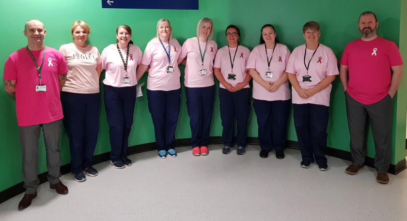 NHS Tayside supports 'Wear It Pink' Day - domestic staff