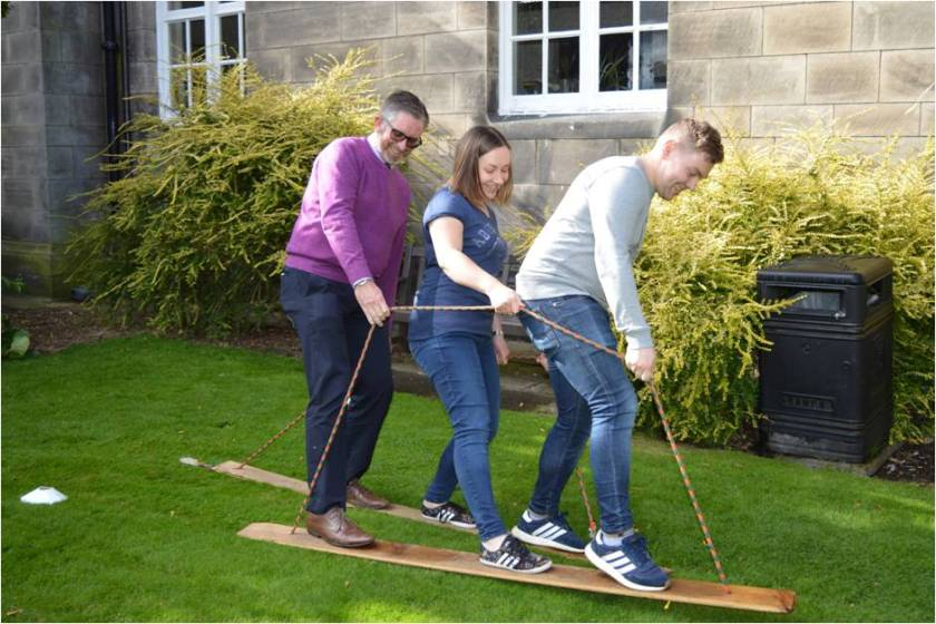 Team building day success Picture3 Clinical Director Professor Grant McIntyre lending his support to colleagues .jpg