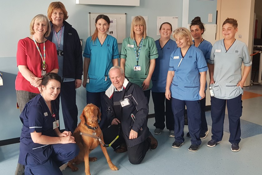 MAIN Therapet delights patients at Ninewells (1)