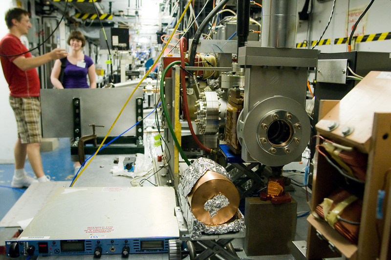 As a preview of our accelerator technologies post, here's a photo of some wakefield acceleration work being carried out at Argonne.