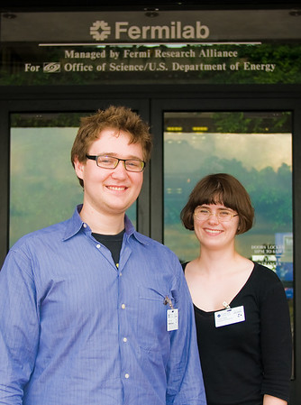 Nick and Lizzie at Fermilab. (photo by Kurt Riesselmann)