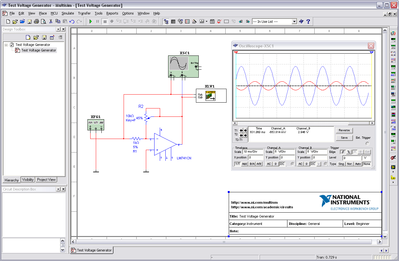 Outputting Signals From A Multisim Simulation To A NI DAQ