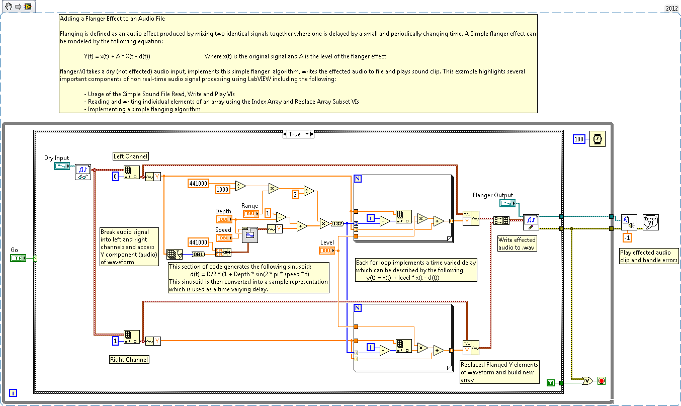 small resolution of adding a flanger effect to an audio file ni community national instruments