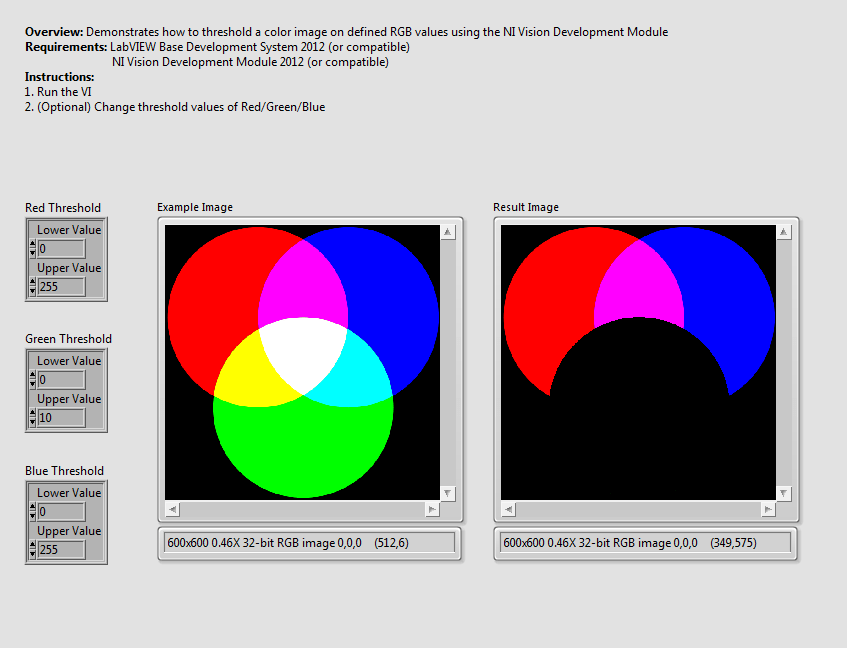 Threshold RGB Original Color Image using the NI Vision Development Module and LabVIEW  NI