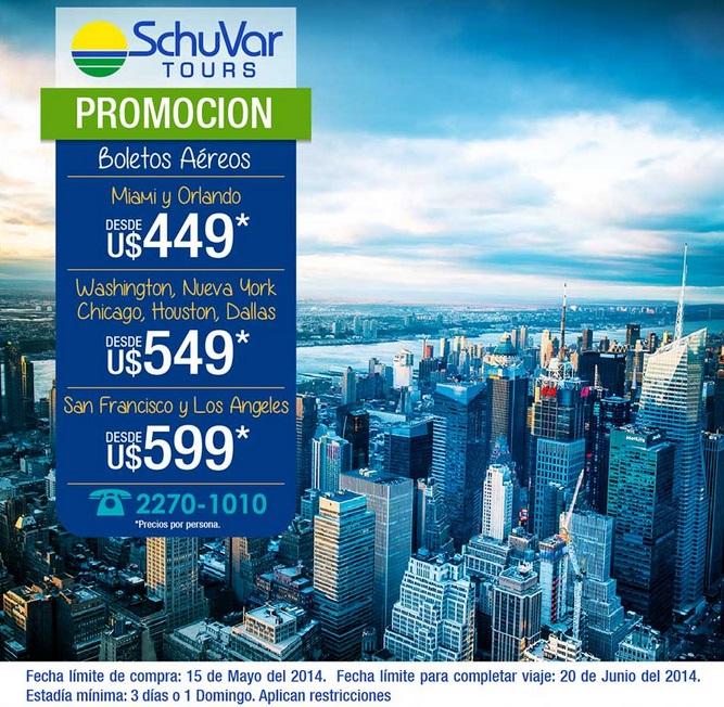 SchuVar Tours Promocin para viajar a Estados Unidos