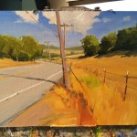 Greg LaRock's demo painting 1st day of workshop with Northern Indiana Artists