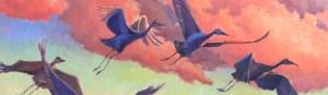 """Northern Indiana Artist Diane Overmyer, """"Flight Patterns"""", Oil"""
