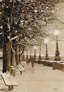 """Dan Slattery, """"Walk on a Snowy Night"""""""