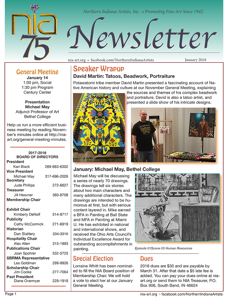 January 2018 NIA Newsletter page 1