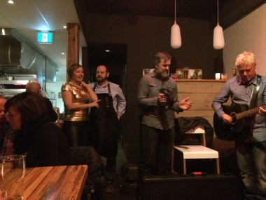 Backhouse owners Bev and Ryan hosted Monday night Industry nights with open mic