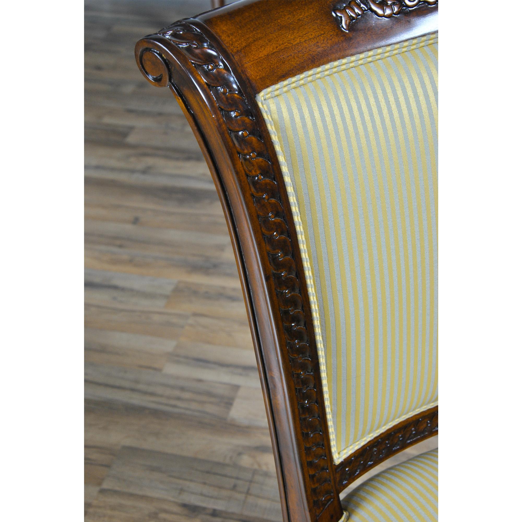Mahogany French Side Chair Niagara Furniture solid mahogany