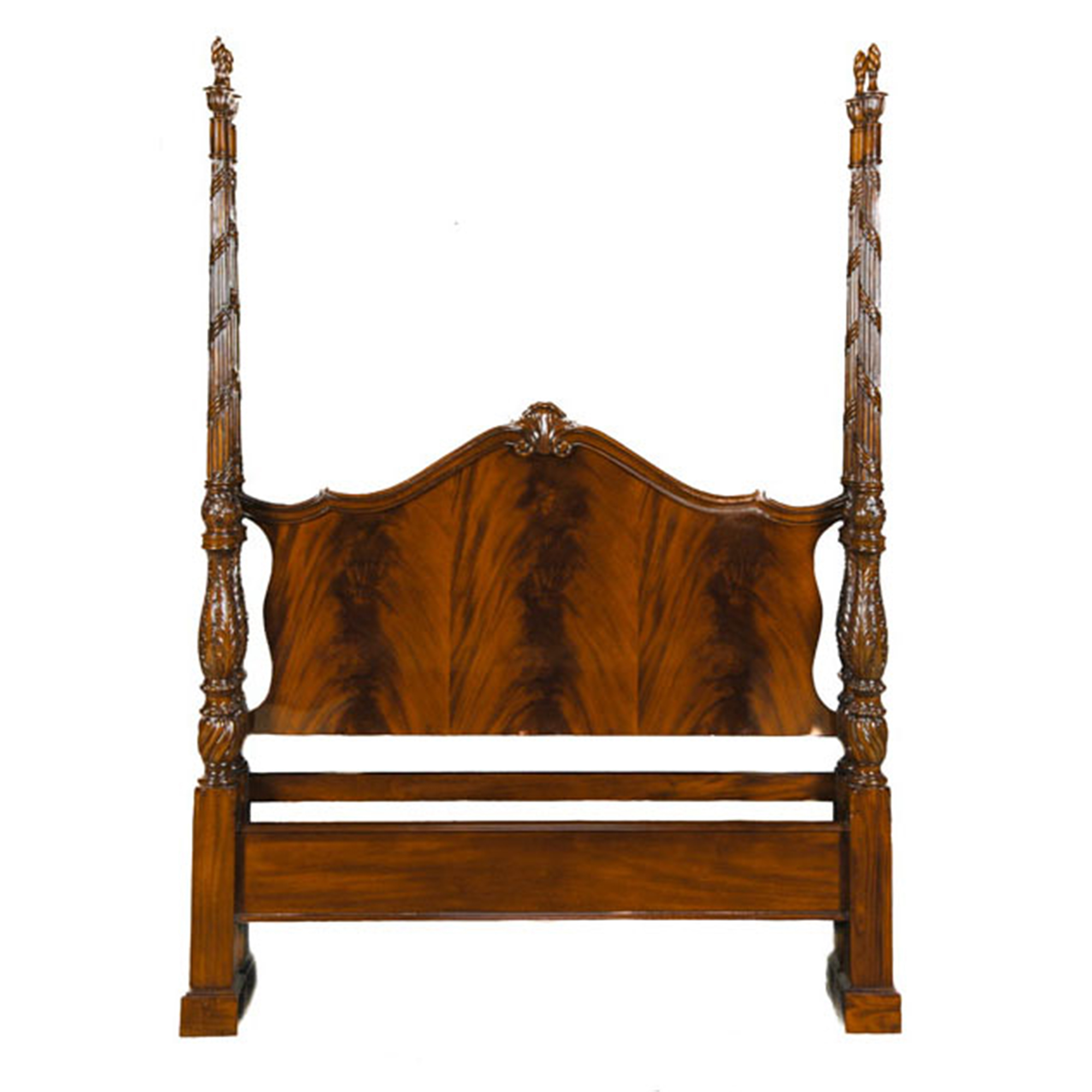 Mahogany Queen Size Four Poster Bed Niagara Furniture