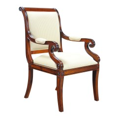 Upholstered Bedroom Chair With Arms Cheap Office Chairs Regency Arm Niagara Furniture Free