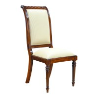 Tall Back Upholstered Side Chair, Niagara Furniture, solid ...