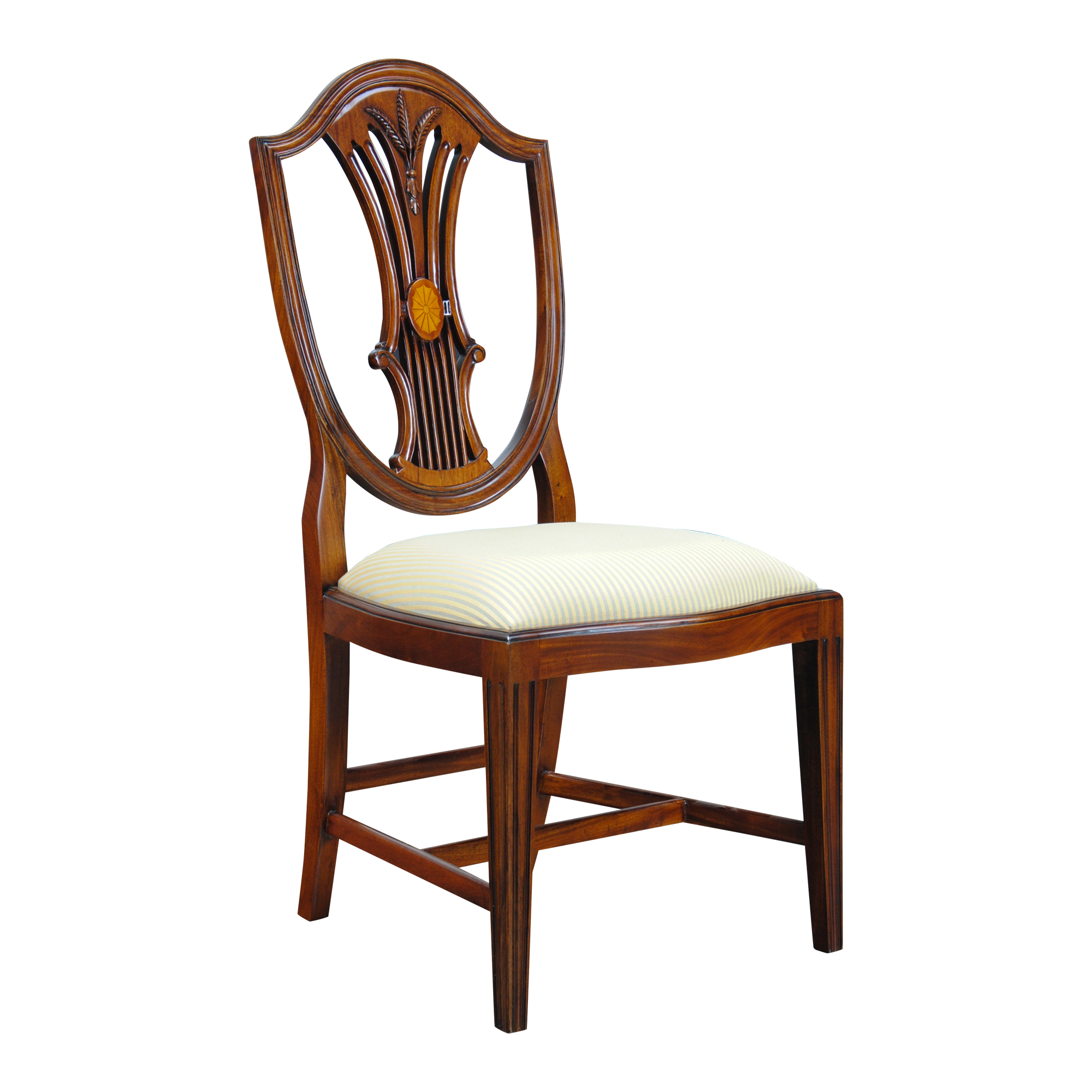 Back Chair Inlaid Shield Back Side Chair Niagara Furniture Tall