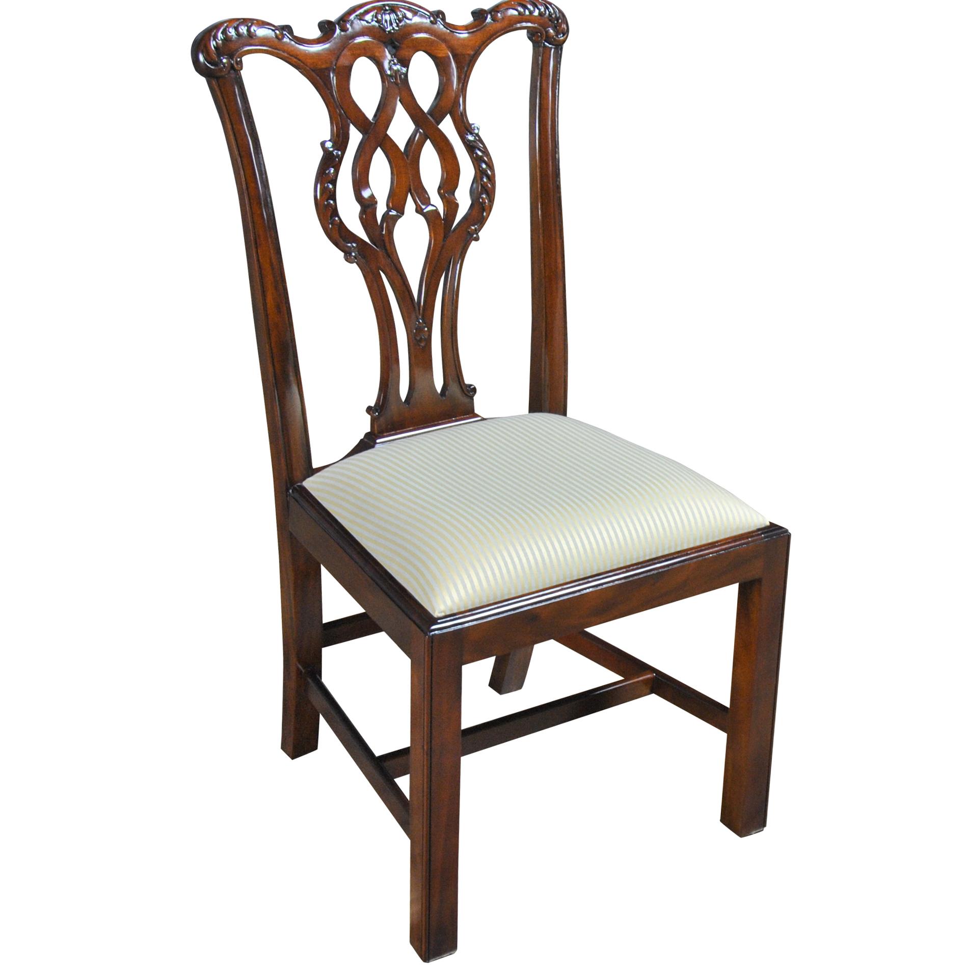 Straight Leg Chippendale Side Chair Niagara Furniture