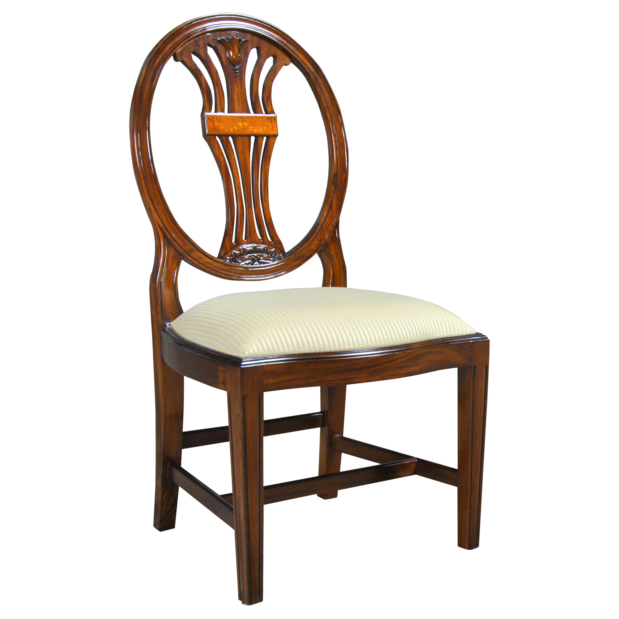 Oval Back Chair Oval Back Inlaid Side Chair Niagara Furniture Free Shipping