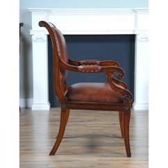 Full Grain Leather Chair Portable Chaise Lounge Chairs Outdoor Regency Arm Niagara Furniture