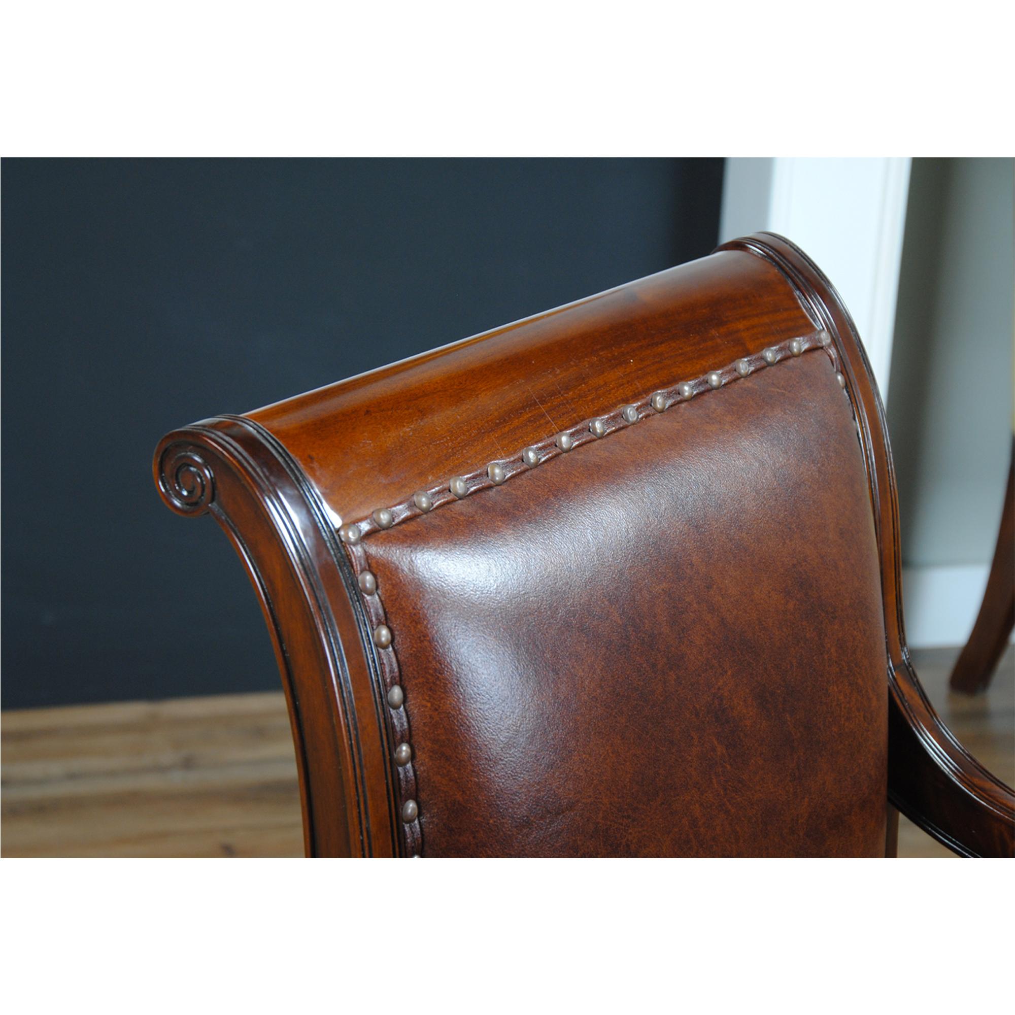 full grain leather chair club chairs on casters regency arm niagara furniture