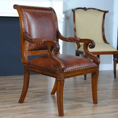 Full Grain Leather Chair Office Seat Slipcovers Home Furniture Dining Room Chairs Regency