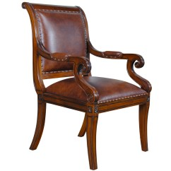 Full Grain Leather Chair Pottery Barn Anywhere Home Furniture Dining Room Chairs Regency