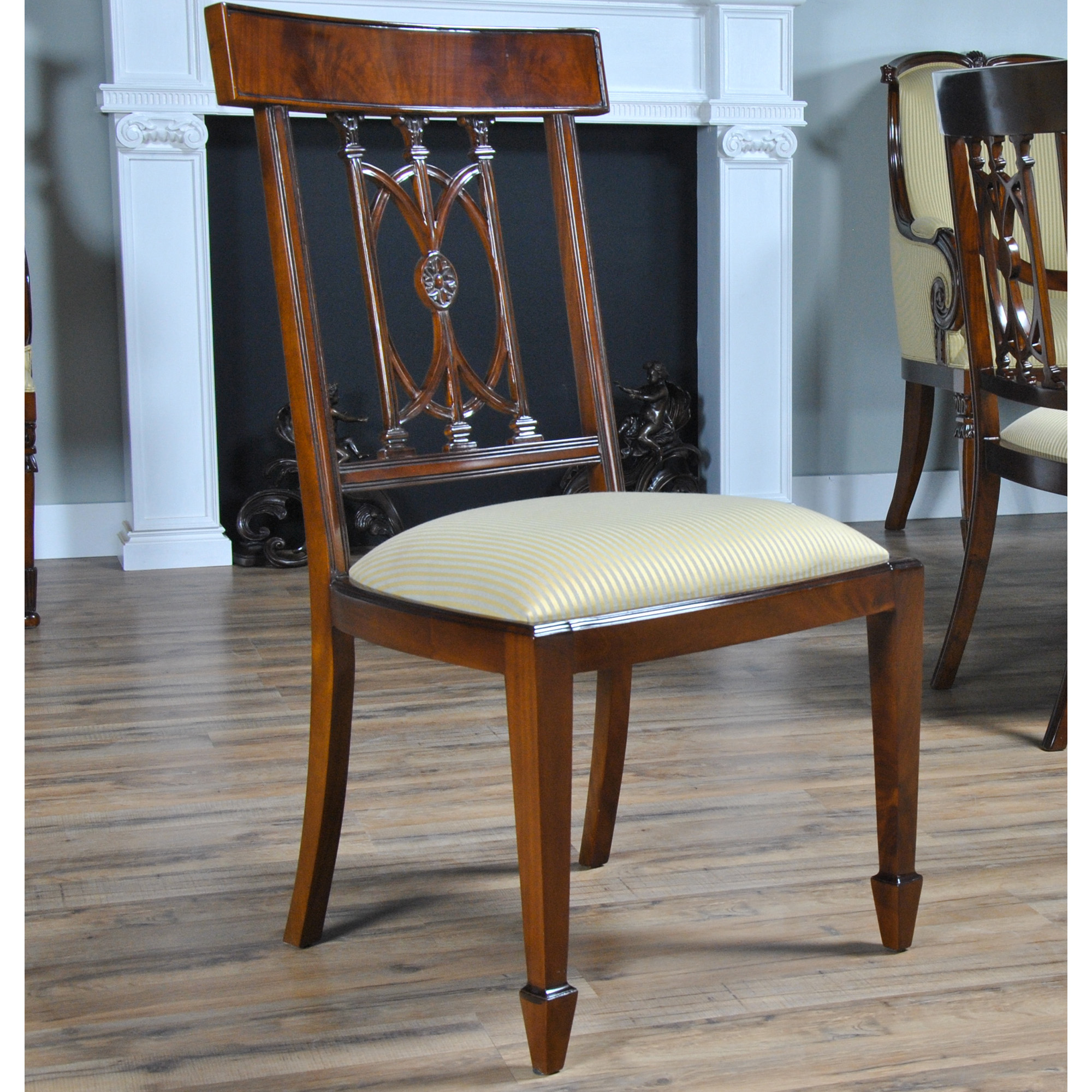 Hepplewhite Chair Home Furniture Dining Room Chairs Mahogany