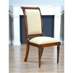 Tall Back Chairs Bernhard Chair Review Upholstered Side Niagara Furniture Solid
