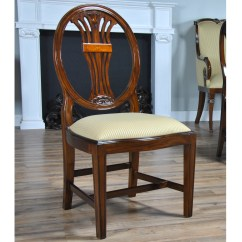 Oval Back Dining Room Chairs Sofa Armchair Covers Inlaid Side Chair Niagara Furniture Free Shipping