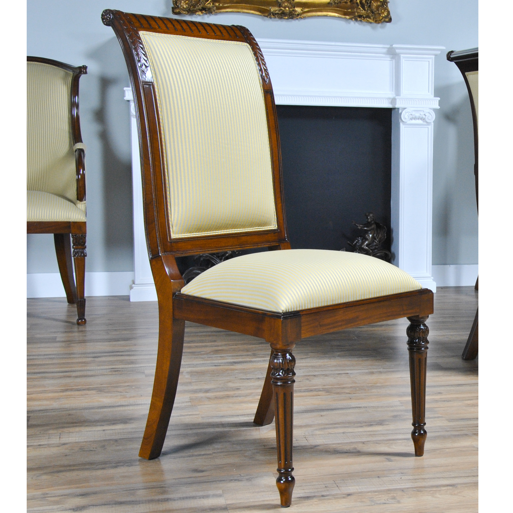 tall back chairs bar chair covers upholstered side niagara furniture solid