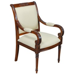 Upholstered Arm Dining Chair Bean Bag Chairs Usa Carved Empire Niagara Furniture