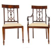 Mahogany Hepplewhite Chairs, Set of 10, Niagara Furniture
