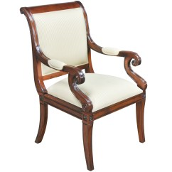 Upholstered Bedroom Chair With Arms Perego Siesta High Home Furniture Dining Room Chairs Regency