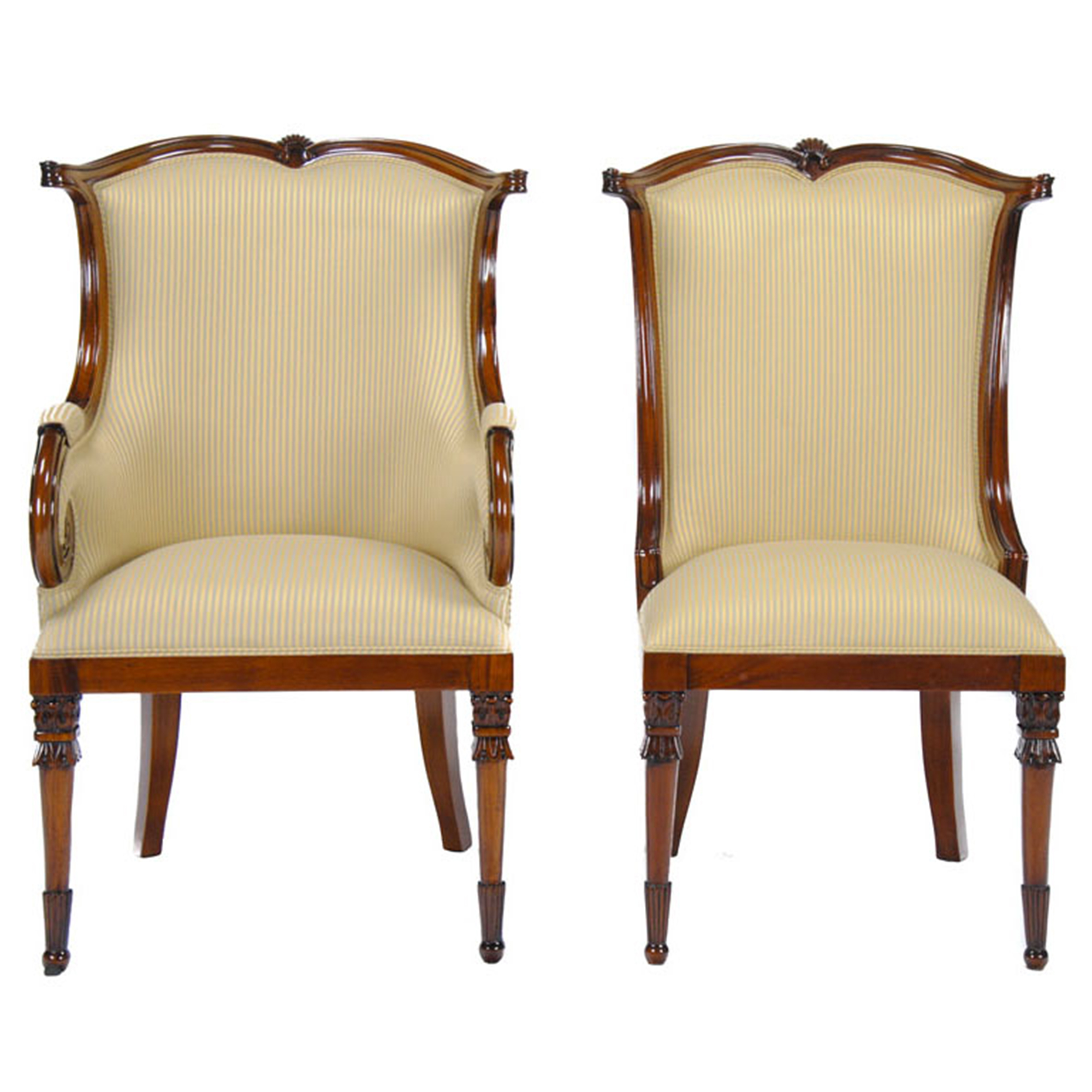 Upholstered Dining Room Chairs American Upholstered Dining Chairs Set Of 10 Niagara
