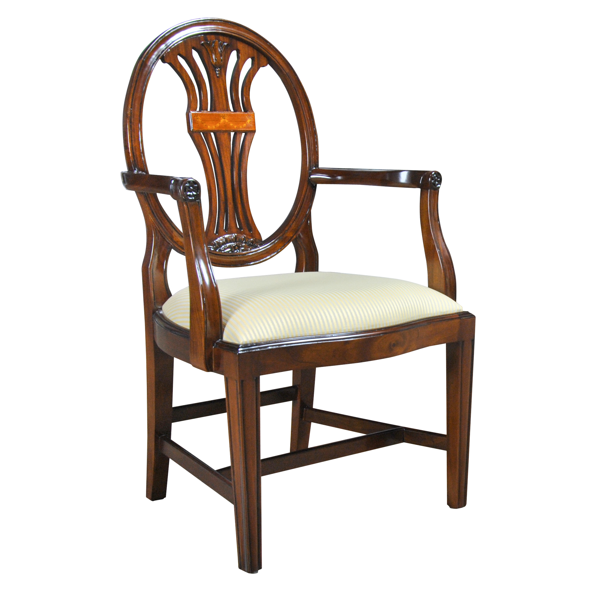 Oval Back Chair Oval Back Inlaid Arm Chair Niagara Furniture Solid Mahogany