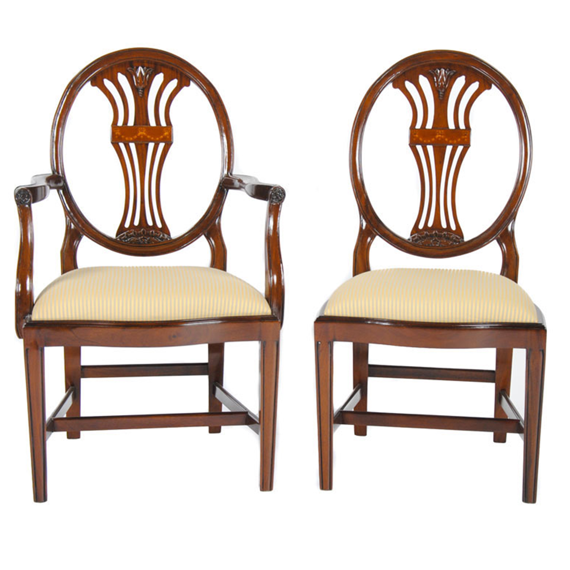 Oval Back Chair Oval Back Inlaid Chairs Set Of 10 Niagara Furniture