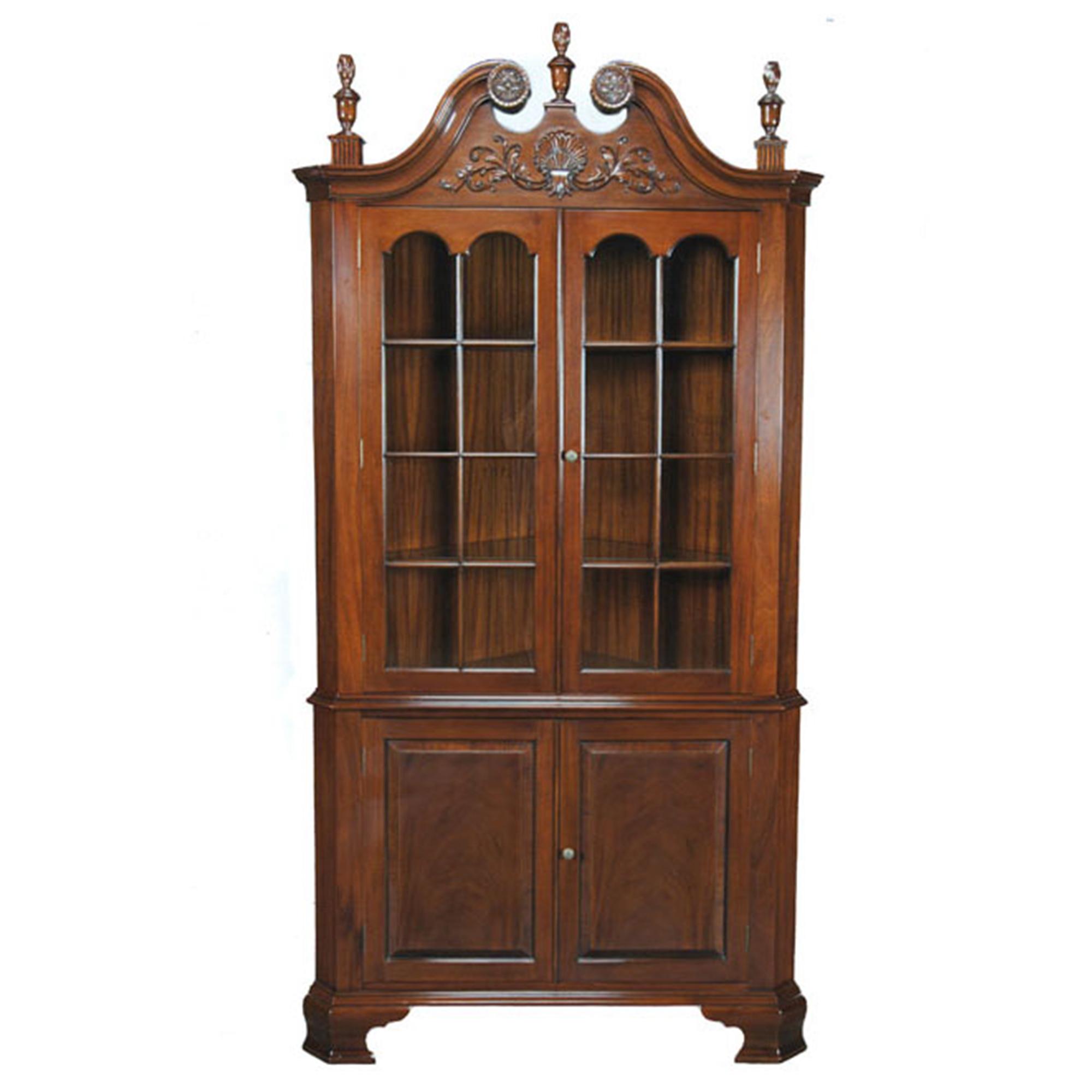Carved Corner Cabinet Niagara Furniture mahogany dining room