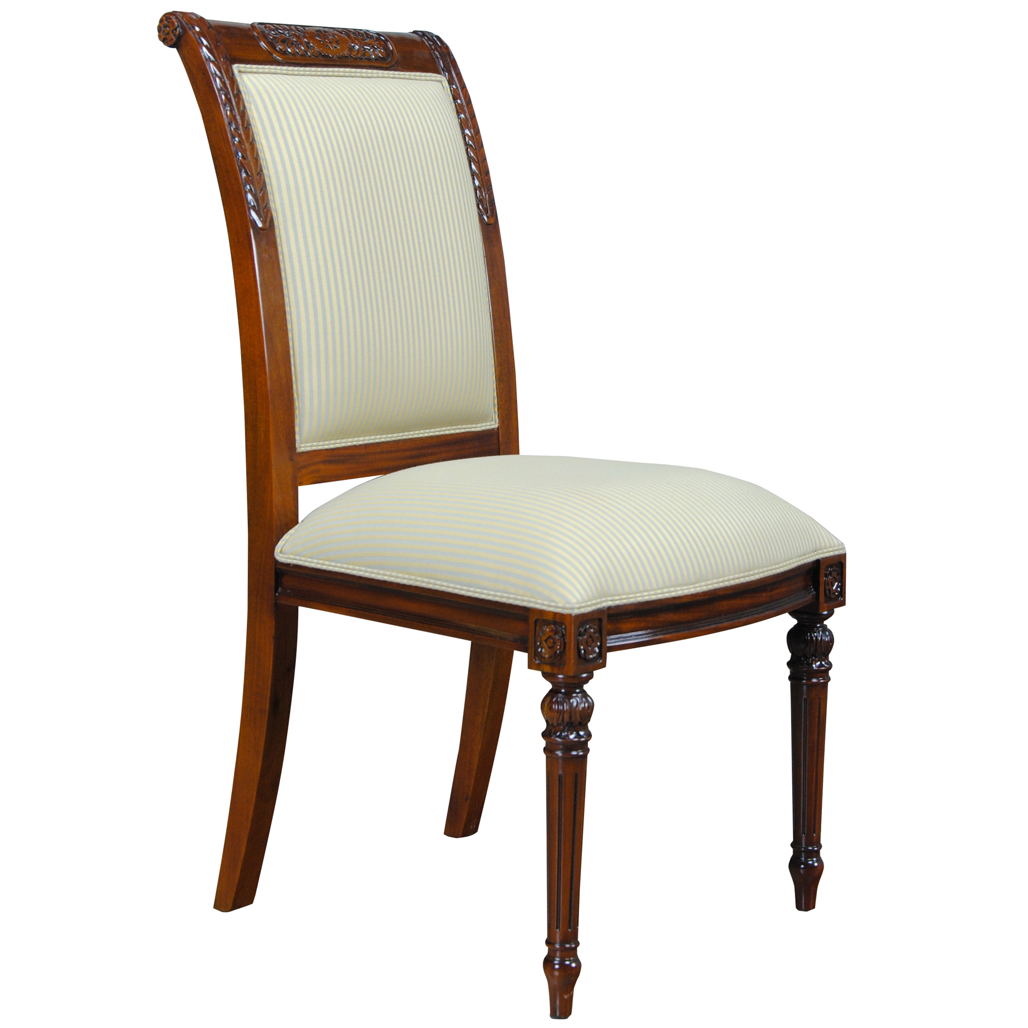 Carved Empire Upholstered Side Chair Niagara Furniture