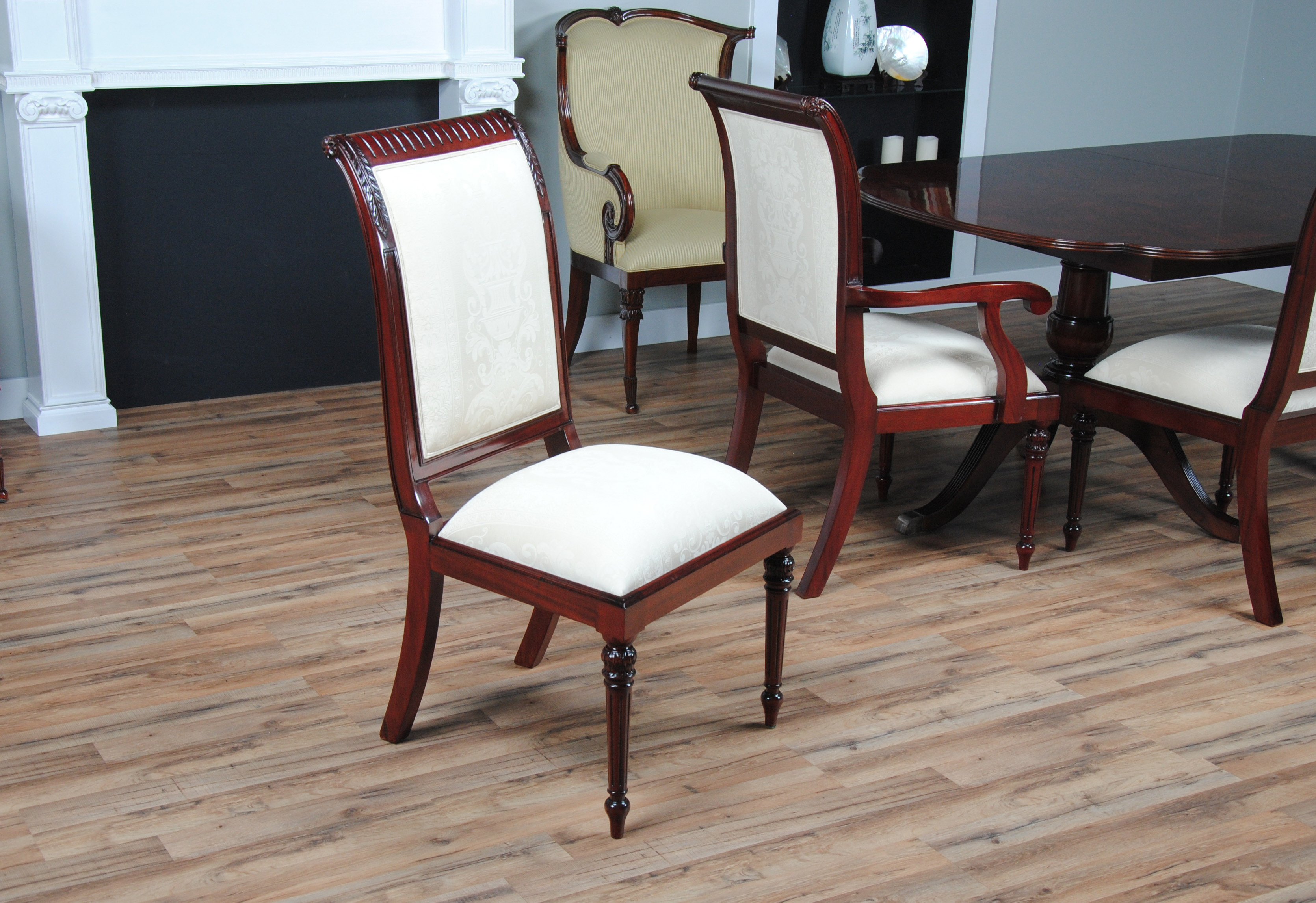 white upholstered chairs chicco polly high chair toys r us tall back upholstery set of 10 niagara ndrac055zwu