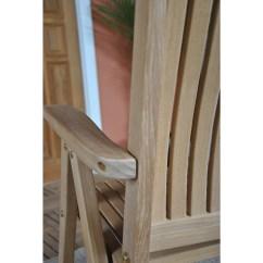 High End Folding Chairs Quinceanera Swing Chair Niagara Teak Cornwall Solid