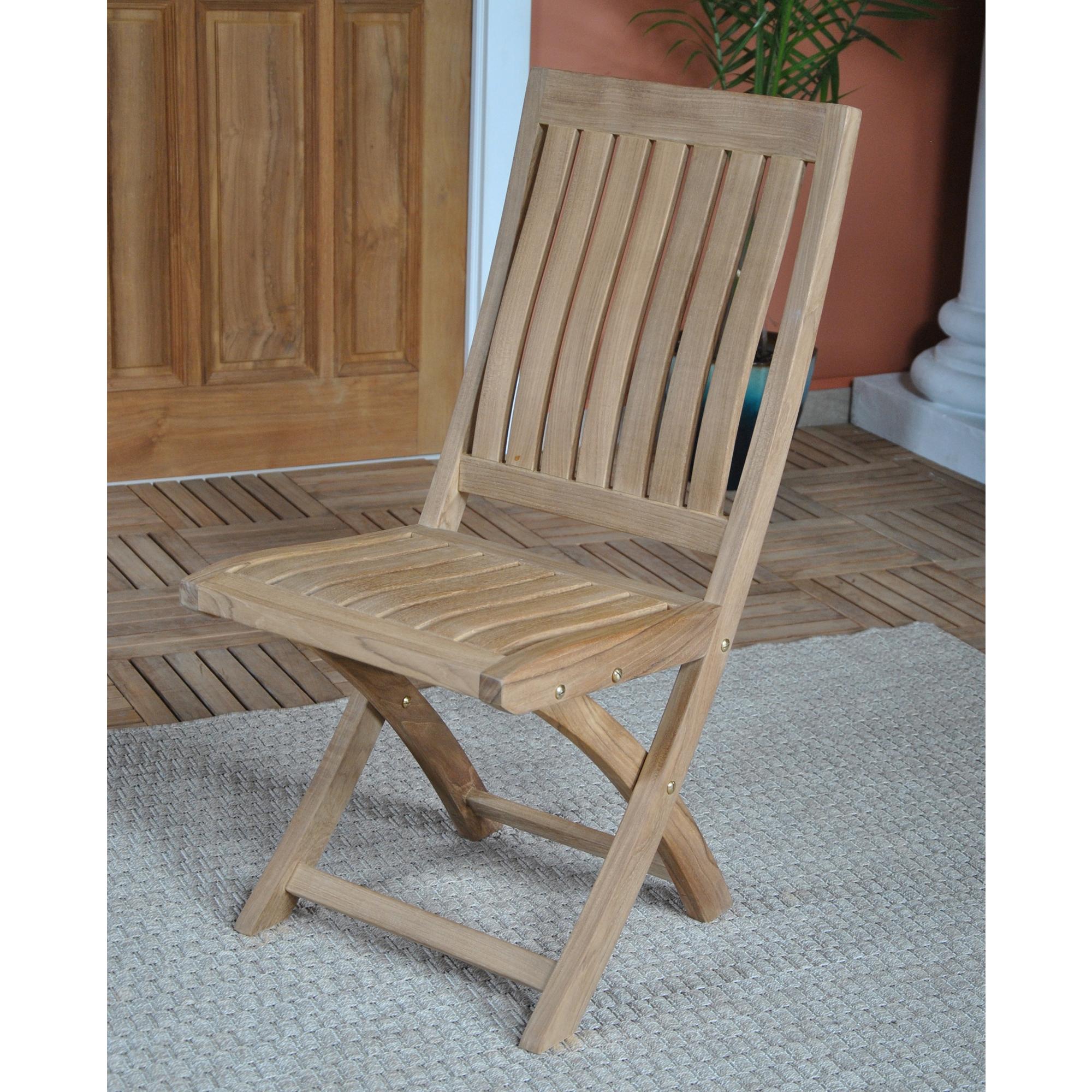 teak folding chair armless camping side free shipping niagara corona ntch003s