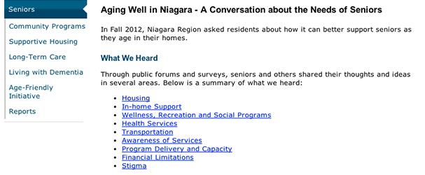 Aging Well in Niagara