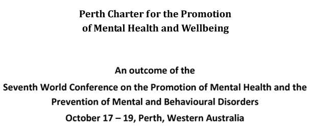 Perth Charter for the Promotion of Mental Health