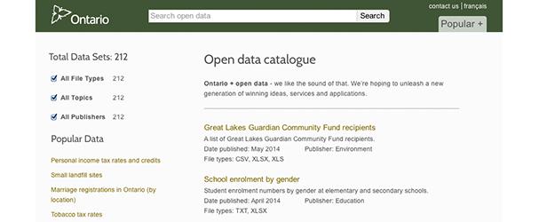 Open Data Ontario