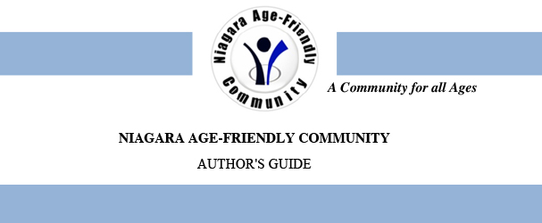 Niagara Age-Friendly Author's Guide