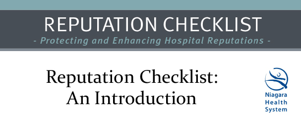 reputation checklist introduction