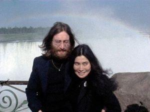 Portrait of John Lennon & Yoko Ono at Niagara Falls