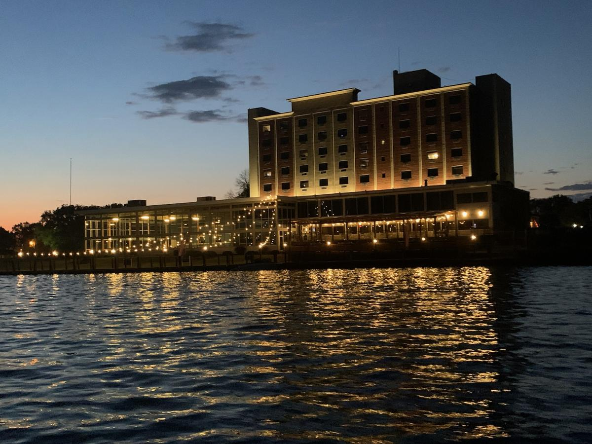 View of Niagara Riverside Resort from the River